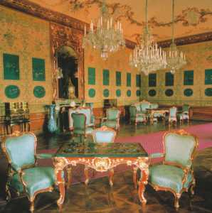 Salón chino azul